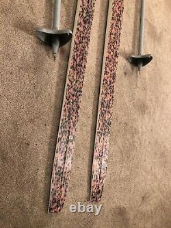 190 cm Fischer cross country skis NNN Womens Mens Waxless Touring+ 130 cm Poles