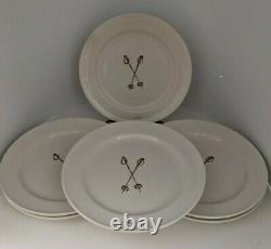 6 Ascentielle Skiing Salad Lunch Snack Plate Cabin Ski Cross Country Poles 1970