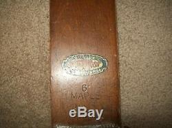 6' C. A, LUND Hastings MINNESOTA Antique C1930's Cross Country skis Maple #2090