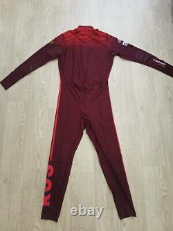 Adidas Biathlon Mens Suit Cross Country Russia Tights Jacket Ski Skinsuit L NEW