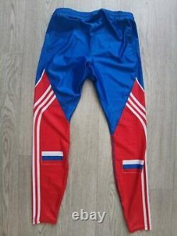 Adidas Biathlon Mens Suit Cross Country Russia Tights Jacket Ski Skinsuit M NEW