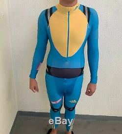Adidas cross country xc ski suit skiing full body suit biathlon speedskating Med
