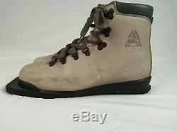 Alico Cross Country Ski Boots for 75mm Three 3 Pin Gray Leather XC Mens 26 (US8)