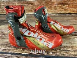 Alpina CD Elite Carbon Duathlon Cross Country Ski Boots Size EU44 US10.5 for NNN