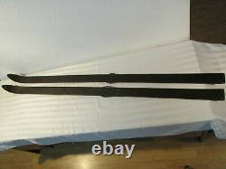 Antique Northland Wooden Skis 70 Inch Crosscountry Downhill Retro Decor