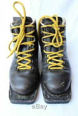 Asolo Sport Snowpine Cross Country Ski Boots Mens Sz 8 Leather Italy 75MM 3 Pin