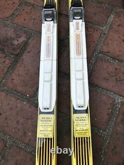 Atomic Supercap Light Cross Country Skis with Salomon Bindings 80 + Ski Poles 58