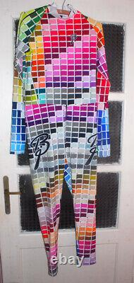 BNWT Bjorn Daehlie Inverse paint chart cross country skiing lycra suit (Size L)