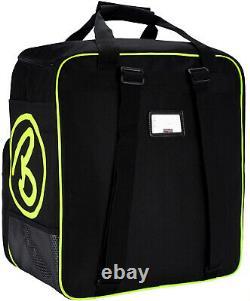 BRUBAKER XC Ski Boot Bag + Cross-Country Ski Bag 195 / 210 cm Black Neon Yellow