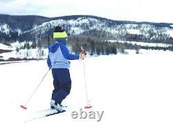 Classic Kids Waxless 150 cm Skis Cross Country XC Nordic Rottefella NNN Bindings