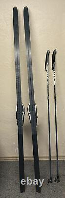 Complete Cross Country Set 215cm Rossignol BC SNS Profil Skis Salomon Boots 44