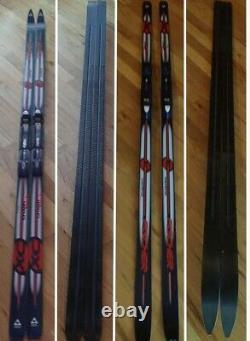 FISCHER crown tech waxless cross country ski xc fish scale 177 cm & NNN bindings
