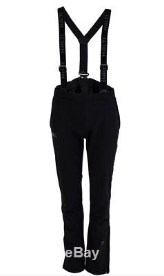 HALTI Womens Cross Country Skiing Pants Suspenders Black Ski Snow Size US 12