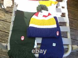 HBC Classic 2012 OLYMPIC Patches TEAM CANADA Pom Pom HAT & SCARF Adult O/S NWT