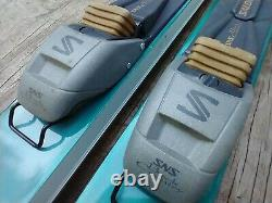 Karhu Greenland 190 cm Metal Edge Cross Country Skis Salomon XA BC Auto Bindings