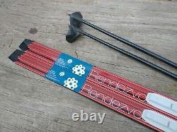 Karhu Waxless 160cm Cross Country Ski SNS Salomon Profil Bindings Nordic & Poles
