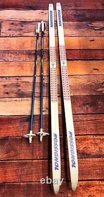 Kids Rossignol LTS AR Junior Cross Country Skis Bindings & Poles 170