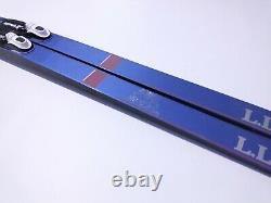 LL Bean Blue Waxless 190 cm Skis Cross Country Nordic Rottefella NNN Binding