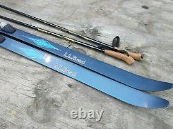 LL Bean Discovery 160cm Cross Country Ski SNS Salomon Profil Bindings with Poles