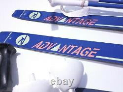 Lot of 4 Kids Waxless Skis & Poles Cross Country XC Nordic Any Boot Binding