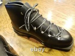 Montan Black Cross Country ski boots 50's-60's West Germany