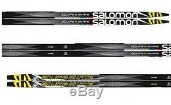 NEW SALOMON EQUIPE 8 SKATING SKATE cross country SKIS/BINDINGS PACKAGE 186cm
