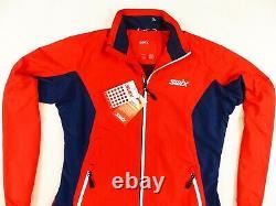 New! Womens Red Swix Cruising Set Cross Country Ski Jacket Sizex-large (xl)