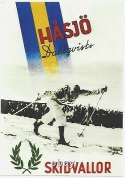 Original vintage poster SWEDISH CROSS COUNTRY SKI HASJO 1941
