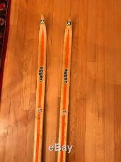 RARE Vintage Eggen Wood Cross Country Nordic Skis 190 CM Norway Skilom Bindings