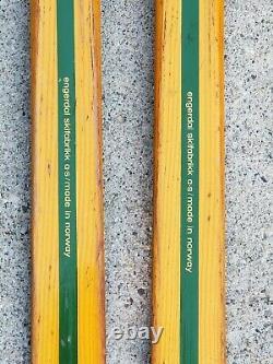 RARE Vintage Eggen Wood Cross Country Nordic Skis 205 CM Norway TROLL Bindings