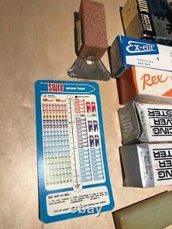 Rare Vintage 60s Original SWIX Cross-Country Ski Wax Kit withcase 75+ pieces NOR