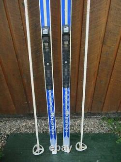 Ready to Use Cross Country 81 Long SPLITKEIN 210 cm Skis + NNN Bindings + Poles