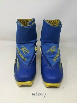 Rossignol Combi NNN Cross Country Ski Boots Men's size 11 Blue Yellow
