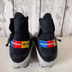 Salomon Size UK 7.5 EU 41 Nordic Cross Country Skiing Ski Boots Silver