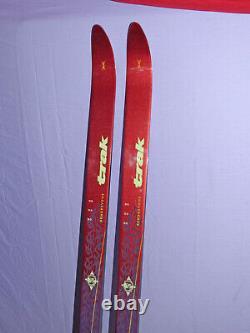 TRAK Rendezvous 190cm XC Cross Country SKIS no wax Salomon SNS Profil Bindings