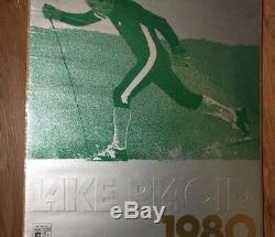 VTG LAKE PLACID Ski Winter Olympics Poster X Country Skiing 1980 Sports