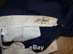 VTG LL Bean Nordic Skiing Knickers SIZE 40 Navy Blue Cross Country