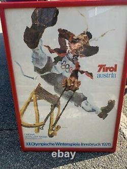 VTG LOT 4 Posters 1976 Innsbruck Winter Olympics Skiing ORIGINAL Walter Potsch