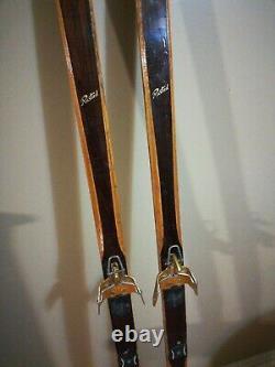 VTG NORWAY Tur-Langrenn Lignostone Rustad 195cm Cross Country Skis Hickory Wood