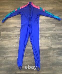Vintage Cross Country Ski Sunbuster Body Suit Unitard Mens Large Made In USA