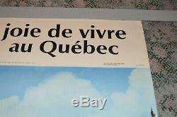Vintage Cross Country Skiing Poster Quebec Canada Tourism