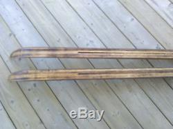 Vintage Elite TUR 210cm Waxable Hickory Wooden Cross Country Skis 3-pin Binding