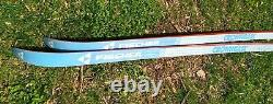 Vintage Fischer Crown Base Cross Country Touring Skis 210 with salomon bindings