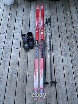 Vintage Fischer Crown Base Cross Country Touring Skis/boots/poles