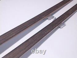 Vintage Gresshoppa 195cm Waxable Hickory Wooden Cross Country Skis 3-pin Binding