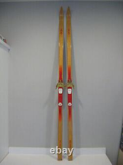 Vintage HEAD LT 188-cm Wood NORWAY Cross-Country Skis withRottefella 3-pin Binding