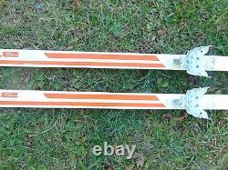 Vintage Jarvinen Cross Country Skis Eagle Waxless Rottefella Bindings