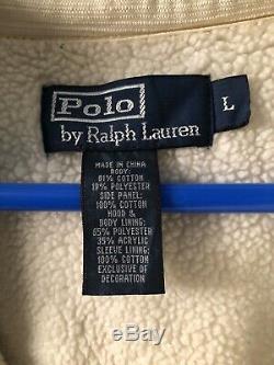 Vintage Polo Ski Ralph Lauren Prl Cross Country 100 Miles Race Hoodie Large