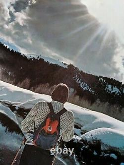 Vintage Poster snow factory cross country ski Thought Factory 23x35 skiing