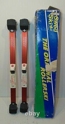 Vintage Swedski Laser Roller Ski Skates Cross Country Training Road Swed Ski